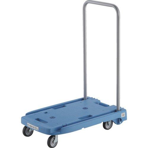 TRUSCO(トラスコ) 樹脂台車 こまわり君 省音G車輪 600×390 ブルー MP-6039N2-B 折りたたみ 軽量 静か 静音