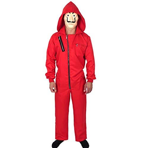 ZHANGXX La Casa De Papel Kostuum Rood Coverall Dali Jumpsuit Voor Halloween Kostuum