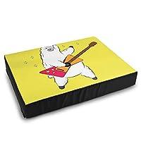 犬用ベッドマット かわいい漫画のラマ、落書きギター 防水 速乾 介護 洗える 再使用可能 おしっこパッド 犬 猫 ペットシーツ 38X50.5 CM