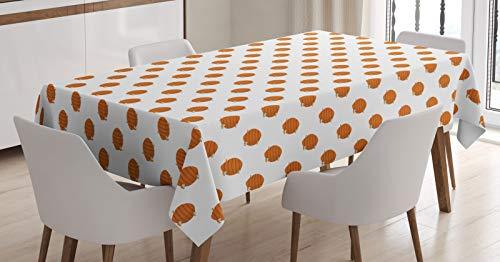 ABAKUHAUS Honingraat Tafelkleed, Bijenkorven Cartoon Stijl, Eetkamer Keuken Rechthoekige tafelkleed, 140 x 200 cm, Oranje Aarde Geel