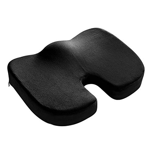 WOLTU Orthopädisches Sitzkissen Ergonomisches Sitzkissen für Bürostuhl, Memory Foam Stuhlkissen, Fördert Durchblutung und Entlastet das Steißbein, für Büro, Auto, Rollstuhl & Home Office