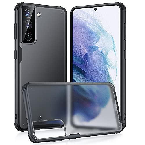 Vakoo Cover Samsung S21, Custodia Protettiva Mat Antigraffio Antiscivolo Plastica Dura PC Shell per Samsung Galaxy S21 5G 6,2 Pollici, Nero