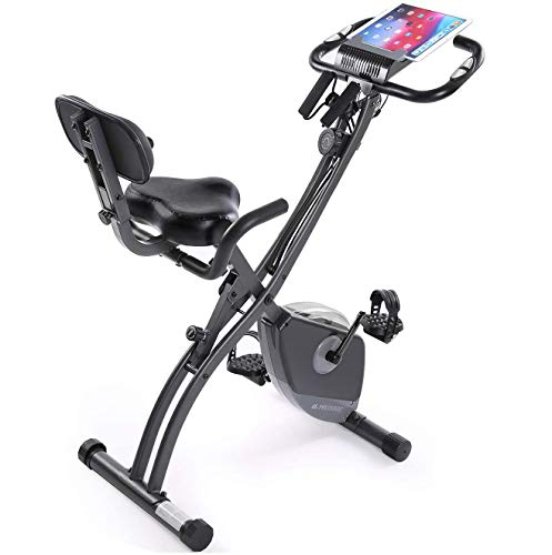 Exercise Bike Stationary Bike Foldable Magnetic Upright Recumbent Portable Fitness Cycle...