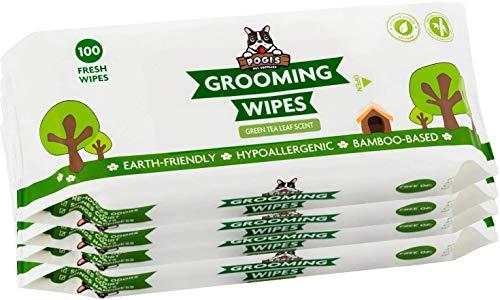 Pogi's Grooming Wipes - Toallitas húmedas - 400 toallitas desodorantes para Perros - Aroma de té Verde, Naturales, Extra Grandes, biodegradables