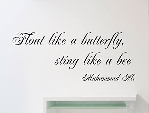 Muhammad Ali Quote Wall Vinyl Decal Float Like A Butterfly Sting Like A Bee Cassius Clay Motivational product image