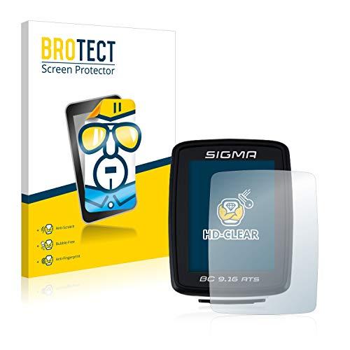 BROTECT Schutzfolie kompatibel mit Sigma BC 9.16 ATS (2 Stück) klare Displayschutz-Folie