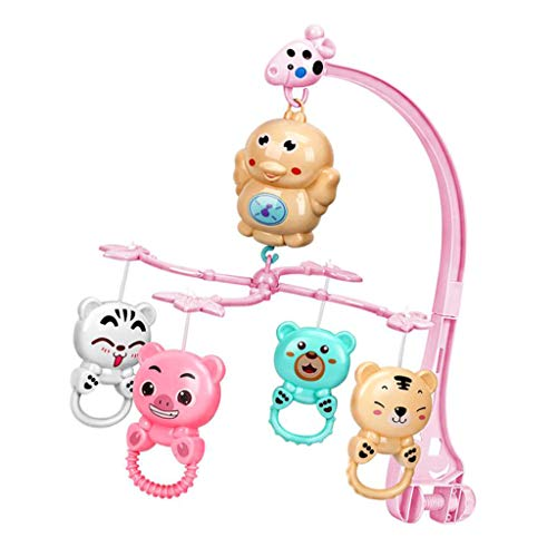 sharprepublic Baby Mobile Bed Bell Baby Hochets Toy Gentle Music 500 Content Plastic Art - Rose