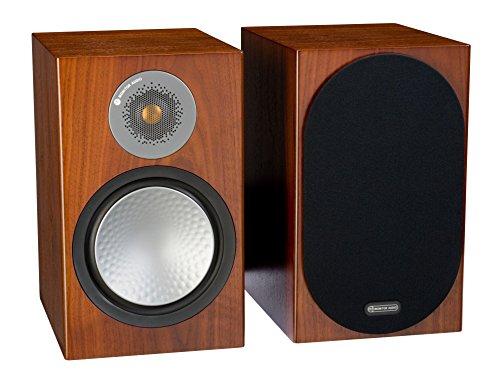 Monitor Audio Silver 100 Bookshelf Speakers - Walnut (Pair)