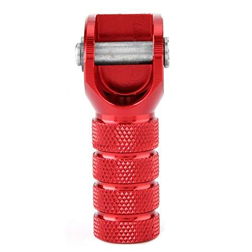 Pedale del freno rosso per moto Pedale del cambio Cambio punta della leva del cambio per 125-530cc 690950/per tutti i 125-530cc 2004-2010 che utilizzano 2 bulloni per fissare la pedana