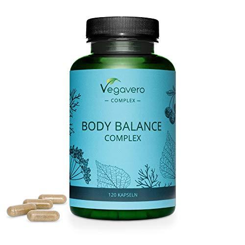 Body Balance Vegavero® | Diurético Natural | 100% Vegetal & Sin Aditivos | 120 Cápsulas | Hinojo + Cereza + Abedul + Aesculus Hippocastanum + Urtica Dioica