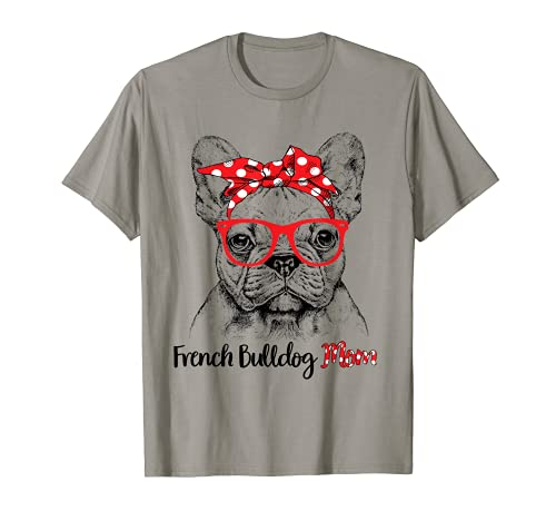 French Bulldog Mom Happy Mother's Day Red Headband Gift T-Shirt