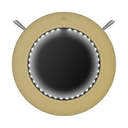 JQRXCQ Robot Aspiradora Tipo de función con Control Remoto de luz Ambiental Un botón para iniciar el Robot de Barrido Inteligente,Oro