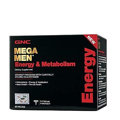 GNC Mega Men Energy Metabolism Vitapak Program - 4 Pack