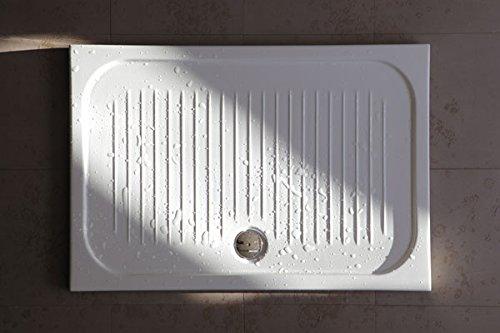 Piatto Doccia FLAT Ultra Sottile H 6 cm 80x100x6 - Completo di Piletta Sifonata