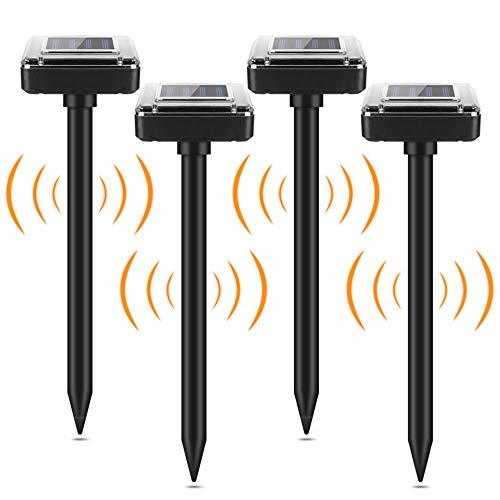 4 PCS Repellente Solare Ultrasuoni, Repellente Solare per Talpe, Solare Repellente Zanzare,...