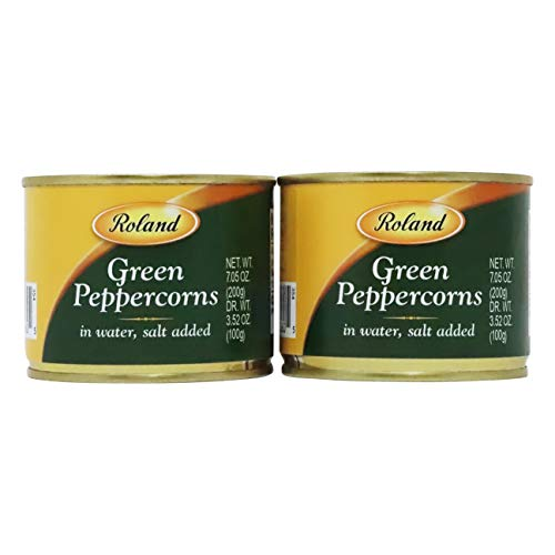 Green Peppercorns in Brine by Roland (3.5 ounce) 2 Pack