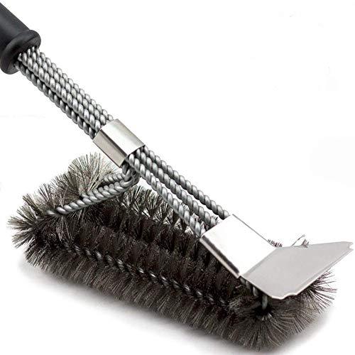 Zidao Cepillo Barbacoa - Barbacoa Profesional Cepillo para 360 ° de Limpieza...
