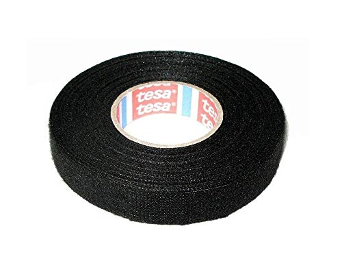 Tesa Gewebeband Klebeband 15mm x 25m für Haushalt Isolierband für Kabelbäume Baumwolle Klebeband