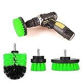 ONEVER 3 STÜCKE Bohrer Scrubber Brush Power Voll Elektrische Borste Badewanne Fliesenfugenreiniger (grün)