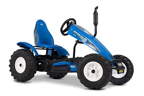 BERG Gokart mit XL-frame New Holland   Kinderfahrzeug, Tretauto mit verstellbarer Sitz, Mit Freilauf, Kinderspielzeug geeignet für Kinder im Alter ab 5 Jahren