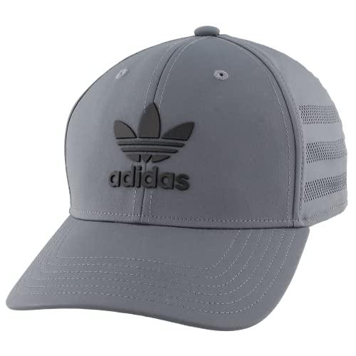 adidas Originals Men's Beacon II Precurve Snapback Cap, Onix/Black, ONE SIZE