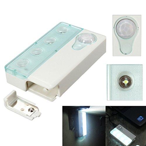 HVTKL 4 LED PIR infrarood draadloze automatische bewegingsmelder & lichtsensor lamp HVTKL