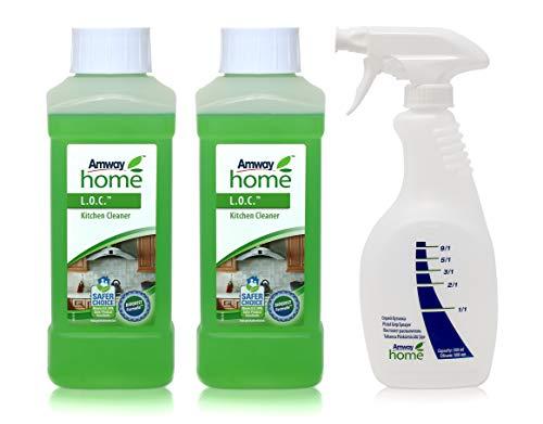 2 x Küchenreiniger L.O.C.™ - 2 x 0,5l (1 Liter) + 1 x Sprühflasche mit Dosiergriff AMWAY HOME™