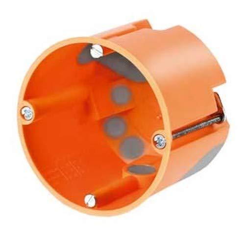 Hohlwand Gerätedose Winddicht 61 x 68mm, orange (50 Stück)