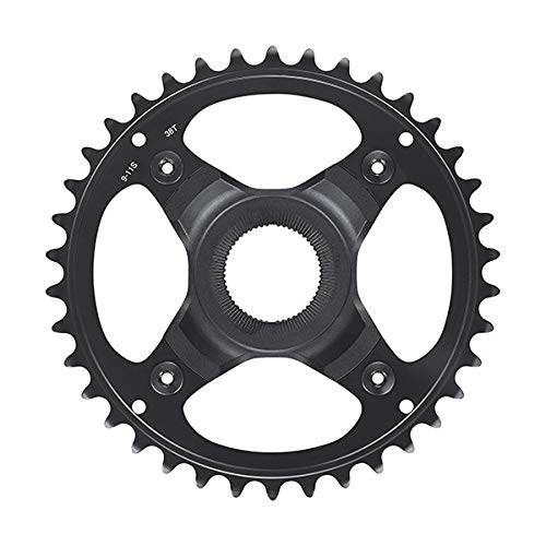 Shimano FC-E80009/11S - Platos para bicicleta (53 mm, 38T, acero inoxidable), color negro