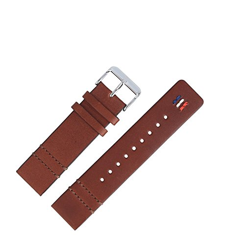 Tommy Hilfiger Uhrenarmband 22mm Leder Braun Glattleder - Uhrband 679301887