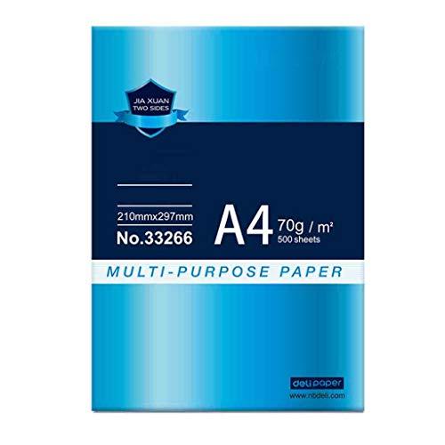 QTDH kantoorprinterpapier - 100% gerecycled A4 kopieerpapier - 70 G, 80 G, wit A4-papier - hoge gladheid - 210 x 297 (mm)
