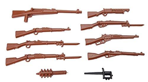10 Armi Brickarms WW1 plastica di alta qualità Personalizzato