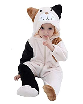 Tonwhar Unisex Baby Animal Cat Onesie Halloween Costume Kid s and Toddler s Autumn Winter Outfits Jumpsuit