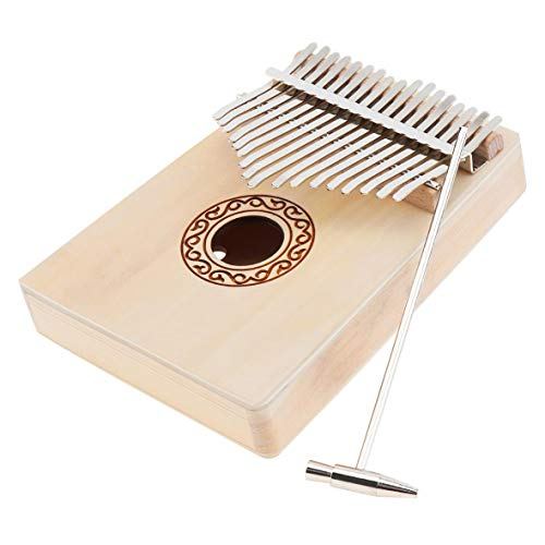 Piano de pulgar de madera de abeto Kalimba de 17 teclas Mbira con martillo de afinación Instrumento musical Caja de música Mejor calidad y precio