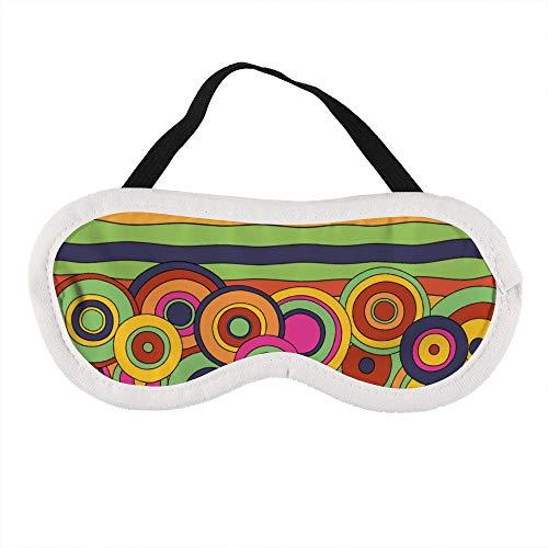 Draagbaar Oogmasker voor Mannen en Vrouwen, Bijen Honing Vector Afbeelding De Beste Slaap masker voor Reizen, dutje, geven U De Beste Slaap Omgeving