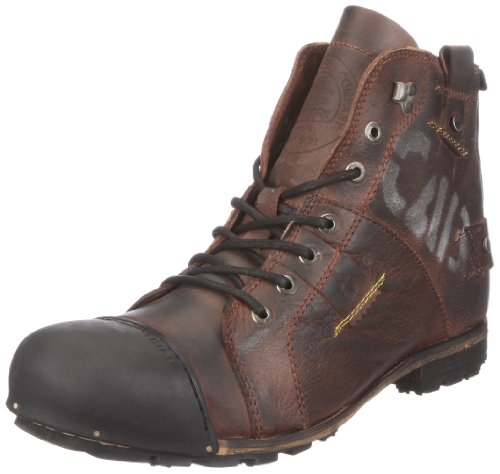 Yellow Cab Herren Industrial M Biker Boots, Braun (Dark Brown), 41