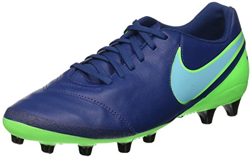 Nike Tiempo Genio II Leather AG-PRO, Scarpe da Calcio Uomo, Blu (Coastal Blue/Polarized Blue/Rage Green), 42 EU