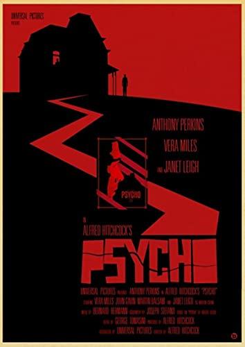 lubenwei Hitchcock Movie Psycho Poster druckt Ölgemälde Leinwand Wandkunst Bilder Wohnzimmer Home Decor (AF-708) 50x70cm Kein Rahmen