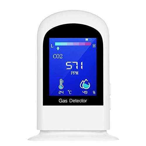 Galapara CO2 Meter Carbon Dioxide Detector Temperatur/Luftfeuchtigkeit Luftqualitätsmonitor CO2-Detektor Genaues Testkit für NDIR-Sensordatenlogger für das Home Office
