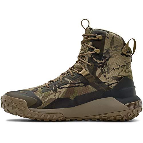 Under Armour Unisex HOVR Dawn WP 400G Hiking Boot, Ridge Reaper Camo Barren (900)/Bayou, 3.5 US Men