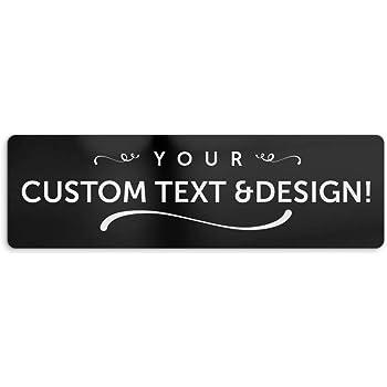 "BuildASign Custom Bumper Magnet- 3"" x 10"", Black"