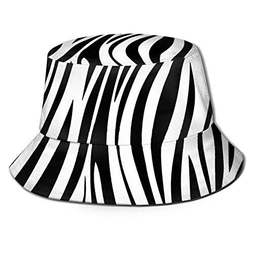 Felice Pasqua Nero Animale Zebra Modello Moda Stampa Bucket Cappello Estate Pescatore Cap per le Donne Uomini