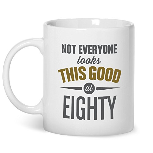 Mainly Mugs 80th Birthday Gift Idea Mug for Men Women Funny Novelty Joke Keepsake Present