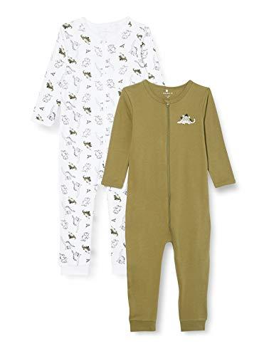 NAME IT Child Schlafanzug 2er-Pack Reißverschluss 92Loden Green