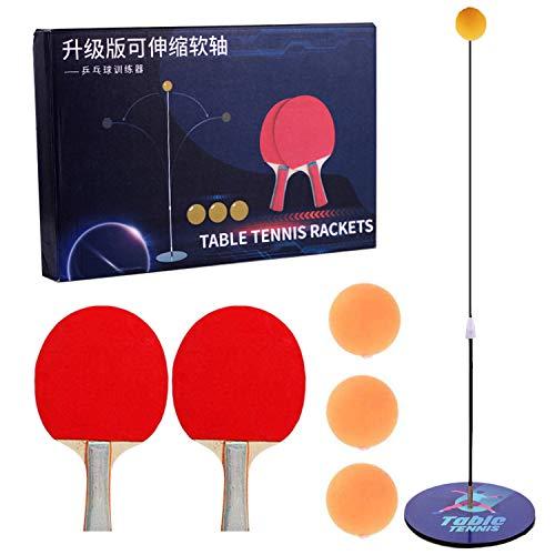 Gxhong Tischtennistrainer mit elastischem,Tischtennistrainer für Kinder Tischtennis Trainer mit elastischem Soft Shaft Freizeit Dekompressions,Tischtennistrainer-Set,Kind Indoor Outdoor Spielen
