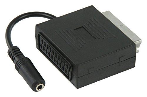 KnnX 28056 | Adaptador SCART Euroconector Macho a Hembra con Salida de...