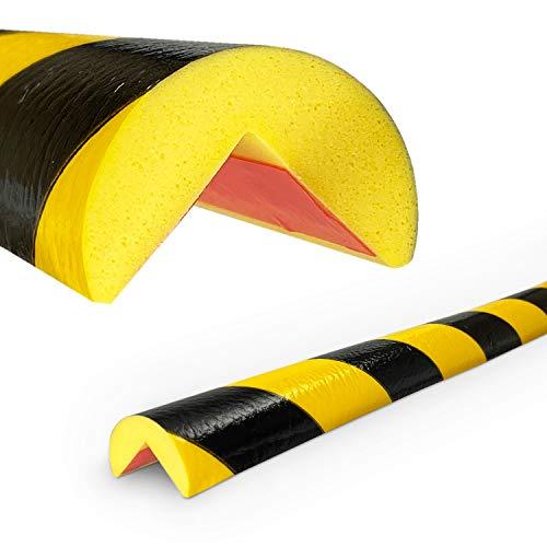 Betriebsausstattung24® Eckschutzprofil Typ A | gelb/schwarz | selbstklebend | Länge: 1,0 m