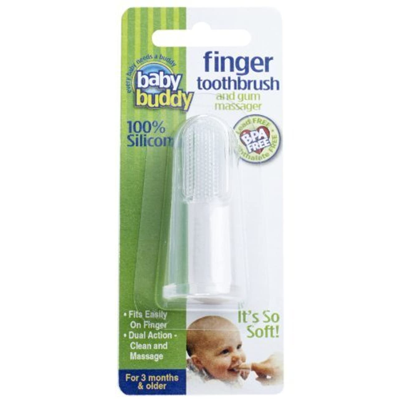 戸口アプライアンス予防接種Baby Buddy Silicone Finger Toothbrush, Clear by Baby Buddy [並行輸入品]