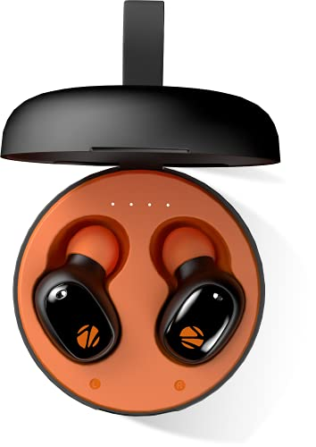 Zebronics Zeb-Sound Bomb 1 TWS Earbuds with BT5.0, Up to 12H Playback, Touch Controls, Voice Assistant, Splash Proof with Type C Portable Charging Case (Orange)