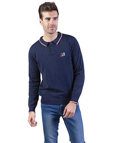 Longboard Herren-Poloshirt Marineblau Coney Island Gr. L, blau
